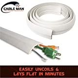 Cable Man 6000-W10C Floor Cord Cover Protector