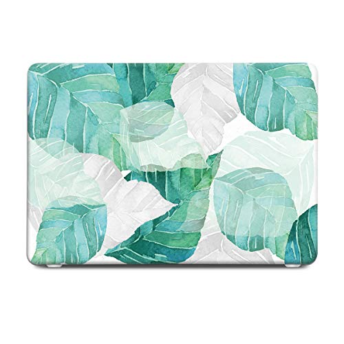 Batianda Gradient Green Banana Leaves Tropical Plants Design Watercolor Painted Protective Hard Case Cover for MacBook Air 13 inch Model Number A1369/A1466 with Keyboard Skin by Batianda (Image #2)