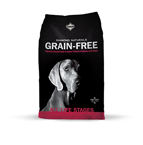 Diamond Naturals Grain Free Real Meat Recipe Premium Dry Dog Food With Real Pasture Raised Beef 14Lb