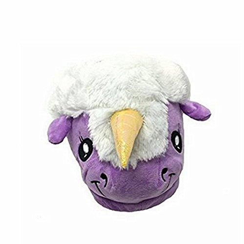 Pour colorfulworld en Cosy Fluffy Purple Femmes Peluche Pantoufles de les Licorne Pantoufles Adulte SwxZ6wX