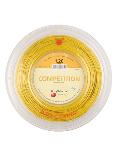 Kirschbaum Reel Competition Tennis String, 1.25mm/17-Gauge, Yellow