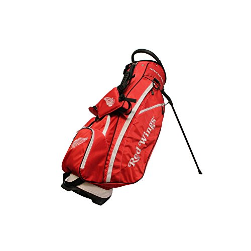 (Team Golf NHL Detroit Red Wings Fairway Golf Stand Bag, Lightweight, 14-way Top, Spring Action Stand, Insulated Cooler Pocket, Padded Strap, Umbrella Holder & Removable Rain)