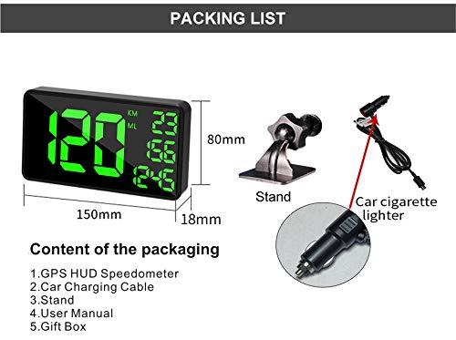 COOLOUS C1090 Universal HUD Heads UP Display Digital Speedometer ...