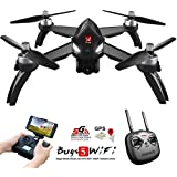 MJX B5W RC Drone Bugs 5W Remote Control Drones 2.4GHz GPS RTH One-Key Return Quadcopter 1080P WiFi Camera Photo/Video Helicopter Brushless Motor/LED Night Flight/with MJX App
