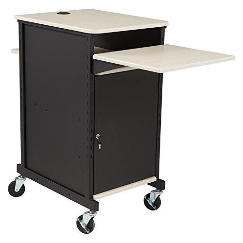 "Oklahoma Sound PRC-400 Jumbo Presentation Cart, 33"" Length x 21"" Width x 40"" Height, Ivory Woodgrain"