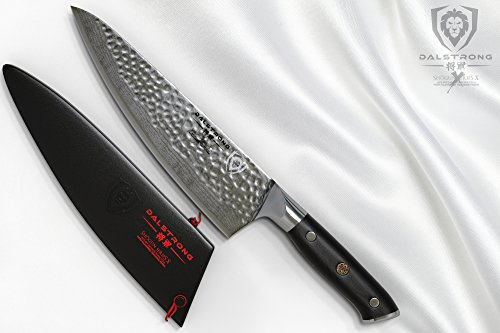 DALSTRONG Chef's Knife - Shogun Series X Gyuto - Japanese AUS-10V - Vacuum Treated - Hammered Finish - 8'' - w/ Guard by Dalstrong (Image #5)