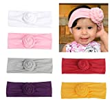 CozyWay Baby Girls Headbands Turban Knotted Newborn Infants Cute Bow Hair Bands for Children Pack of 3&6 (6 Pack-style 3)