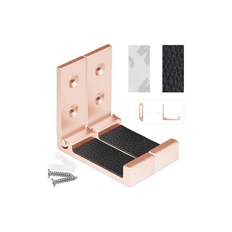Foldable Wall Mount Headphones Holder, H
