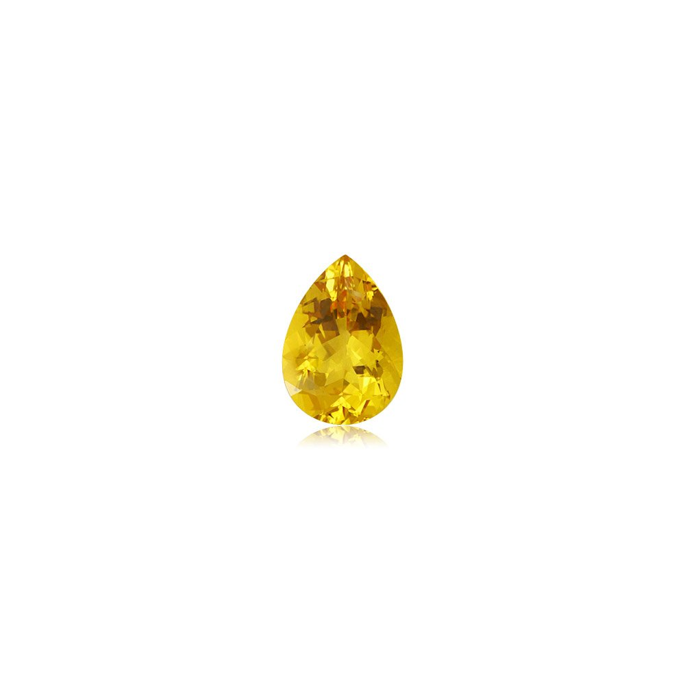 Mysticdrop 0.55-0.70 Cts of 7X5 mm AA Pear Yellow Beryl (1 pc) Loose Gemstone