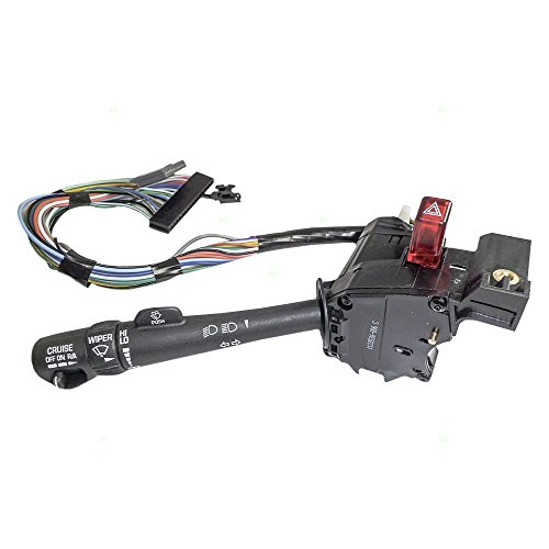 Turn Signal Switch Cruise Wiper Dimmer Hazard Warning Lever Replacement for Envoy Jimmy Blazer Bravada S10 Hombre Sonoma Pickup 26100838 AutoAndArt