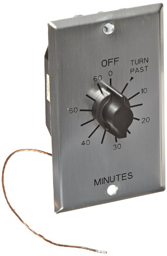 C Series Commercial Style Sringwound Auto Off In-Wall Time Switch, 60 Minute Timer Length, DPST Switch Type (Dpst Timer)
