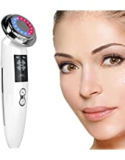5 in 1 Facial Massager Face LED Light Skin Care Beauty Device, Photon Skin Rejuvenation Apparatus, Skin Rejuvenation/Anti-aging/Skin Tightening/Face Lifting/Face Cleansing/Wrinkle Removing, Best Lady
