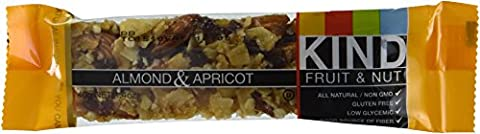 KIND Fruit & Nut Bar, Almond & Apricot, 1.4-Ounce Bars (Pack of 12) - Bar Apricot