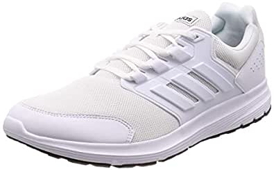adidas Galaxy 4 Men's Running Shoe, Footwear White/Footwear White/Footwear White, 6.5 US