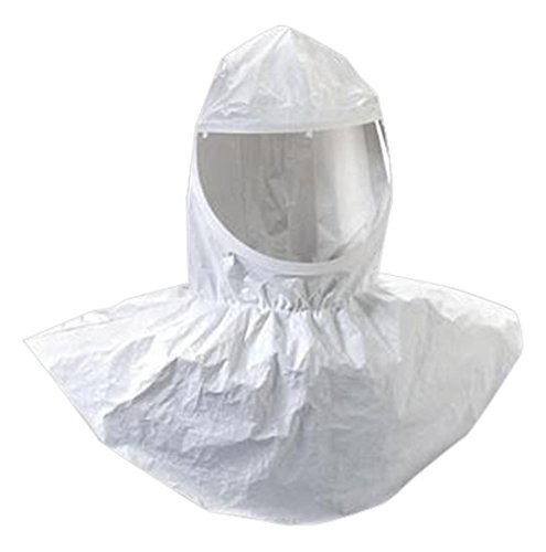 3M H-410-10 Standard Tyvek QC H-Series White Hood With Collar (For Use With Belt Mounted PAPRs Or Supplied Air Components), English, 6.136 fl. oz., Plastic, 1'' x 1'' x 1''
