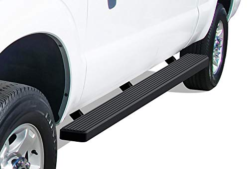 APS iBoard (Black Powder Coated 5 inches) Running Boards | Nerf Bars | Side Steps | Step Rails for 1999-2016 Ford F250 / F350 Super Duty Crew Cab