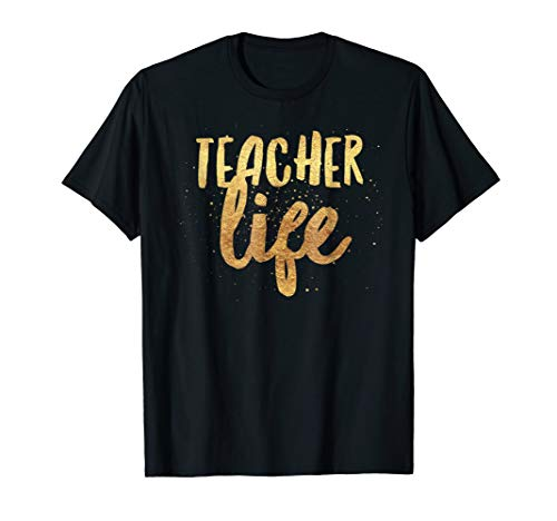 Cool Gold Teacher Life Boutique Back to Elementary T-Shirt