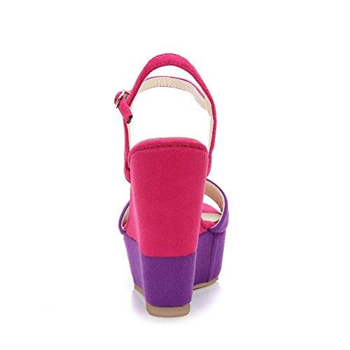 Donna KJJDE Sandali Zeppa Tacco 323 Colore Suola 10cm Piattaforma purple Alta di Donna Panno Gomma XXYY di Slipsole Cucitura nnHfgW