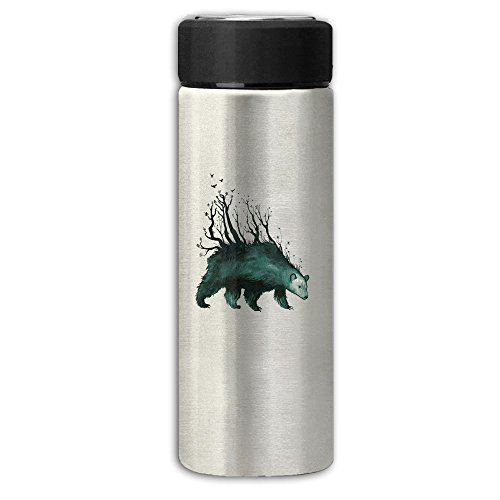 Bear Roaming The Woods In Search Of BerriesStainless Steel Business Vacuum Thermos Travel Mugs