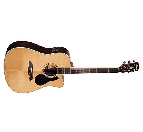 s AD70CE Dreadnought Acoustic - Electric Guitar, Natural/Gloss Finish ()