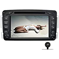 YINUO 7 Inch 2 Din Capacitive Touch Screen Car Stereo DVD Player In Dash GPS Navigation Bluetooth Autoradio for Mercedes-Benz C class W203(2000-2005),Backup Camera Included