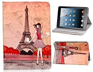 Termichy® Eiffel Tower Love Paris Leather Stand Case Cover For iPad Mini. (Eiffel Tower)