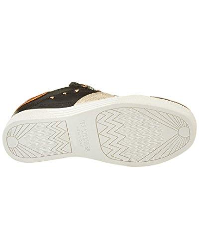 Ivy Kirzhner Sputnik Black Leather Sleek Hardware Lace Up Street Sneakers OMt5SGJJi