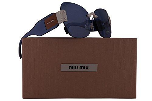 Miu Miu MU08SS Sunglasses Ivory White w/Light Blue Lens 63mm VIU2J1 SMU 08S SMU08S MU - Miu Sunglasses New Miu
