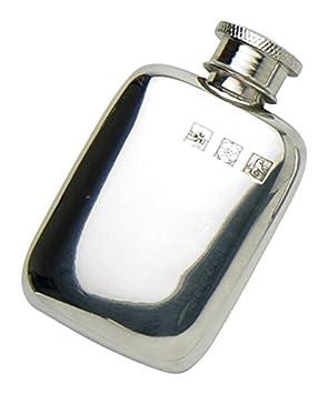 Edwin Blyde /& Co Schlichtes Pocket Design mit Touch Marks und weichem Ecke Form Spirit Fl/äschchen 6/oz Zinn