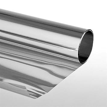 Folien Gigant 3007510201 Sonnenschutzfolie Extrem Mit Spiegeleffekt Selbstklebend Silber 75 X 300 Cm