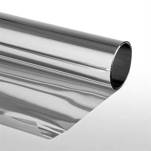 Folien-Gigant Extrem - Adhesivo para ventanas (protector solar, efecto espejo, 3 variantes), color plateado LED-Gigant 3009010201