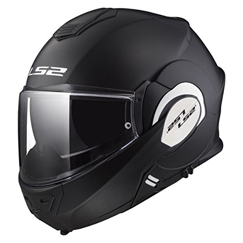 LS2 Helmets Unisex-Adult Solid Valiant Helmets (Matt Black, Large)