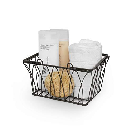 Spectrum Diversified Twist Storage Basket, Small, Black