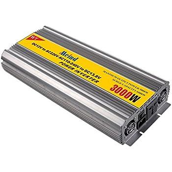 Power inverter 3000W peak 6000 Watt DC 12V to AC 220 Volt 230V converter with battery charge function converters 50HZ (DC12V to AC220V)