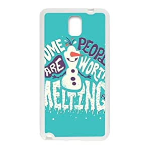 Happy Frozen Snowman Olaf Cell Phone Case for Samsung Galaxy Note3