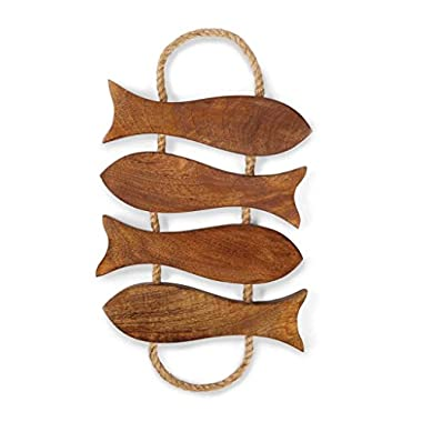 Mud Pie Lake House Collection Fish Cutouts Wood Trivet