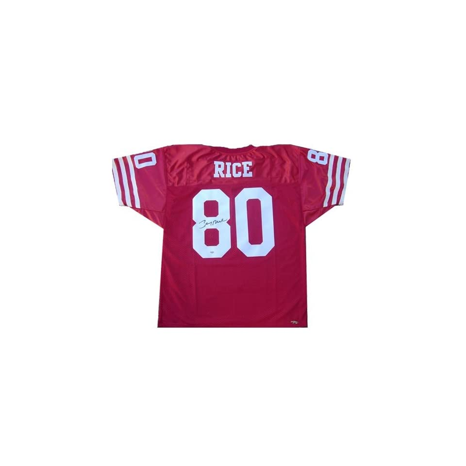 Jerry Rice Autographed Uniform   (unframed)