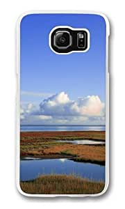 Clouds landscapes Polycarbonate Hard Case Cover for Samsung S6/Samsung Galaxy S6 Transparent