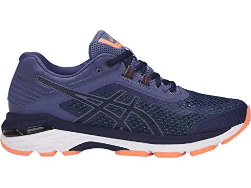 ASICS Women's GT-2000 6 Running Shoes, 9M, Indigo Blue/Indigo Blue/Smoke