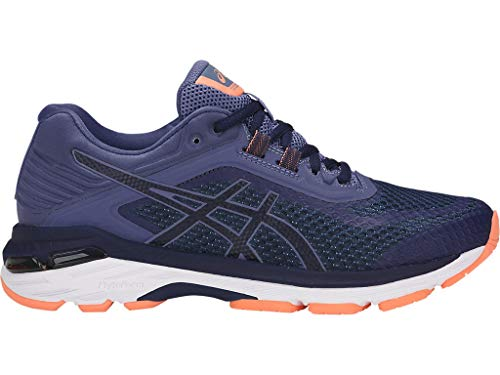 ASICS Women's GT-2000 6 Running Shoes, 9.5M, Indigo Blue/Indigo Blue/Smoke