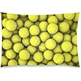 Funny Tennis Ball Pillowcase - Pillowcase with Zipper, Pillow Protector Cover Cases - Standard Size 20x30 inches, Twin-sided Print