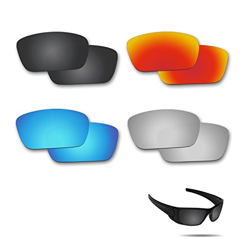 Fiskr Anti-saltwater Replacement Lenses for Oakley Fuel Cell Sunglasses 4 Pairs - Oakley Prizm Fuel Cell Lenses