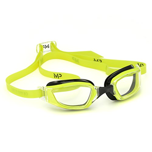 MP Michael Phelps XCEED Swimming Goggles, Clear Lens, Yellow/Black - Ultra Lenses Clear