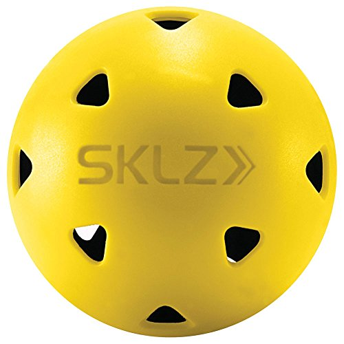 SKLZ Impact Golf Balls (Pack of 12) Limited True Flight Hitting Impact Golf Balls, Dent Resistant and Long Lasting, Stronger Alternative to Plastic Training Golf Balls, Perfect for Home Practice (Training Plastic)