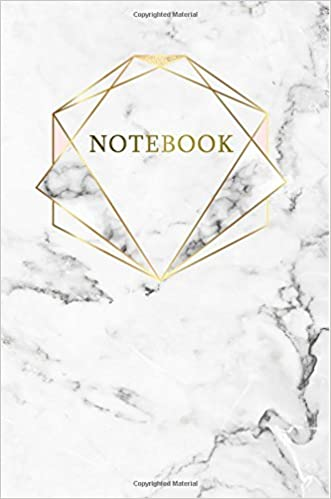 Amazon.com: Notebook: Marble + Gold Journal | 120 College ...