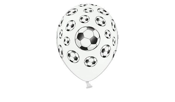 Globos con forma de balón de fútbol, 35 cm, colour blanco y en ...