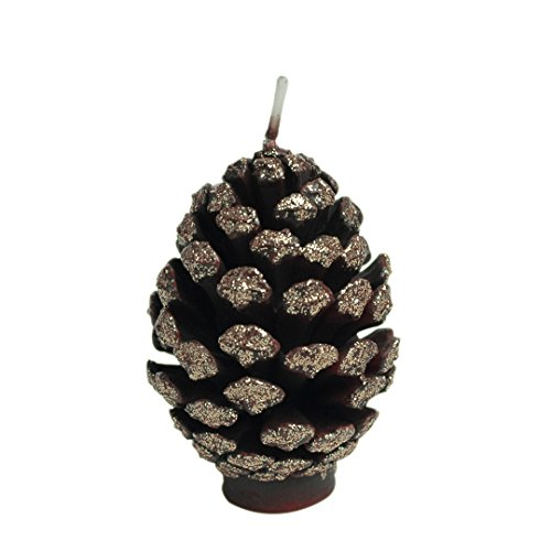 ILIKEPAR Christmas Candles Smokeless Cake Topper Candle for Party Supplies (Gold Pine Cone)