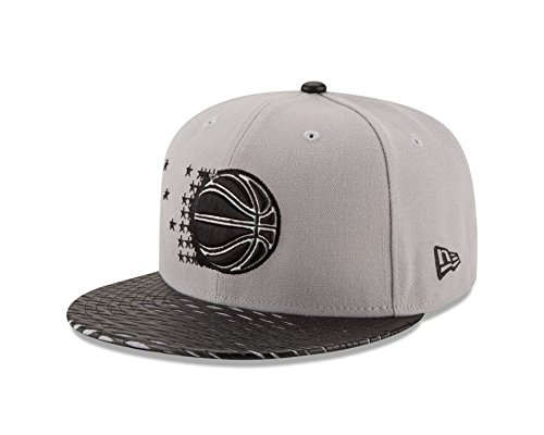 New Era NBA Orlando Magic Leather Rip 59FIFTY Fitted Cap, 7.375, (New Era Leather Cap)