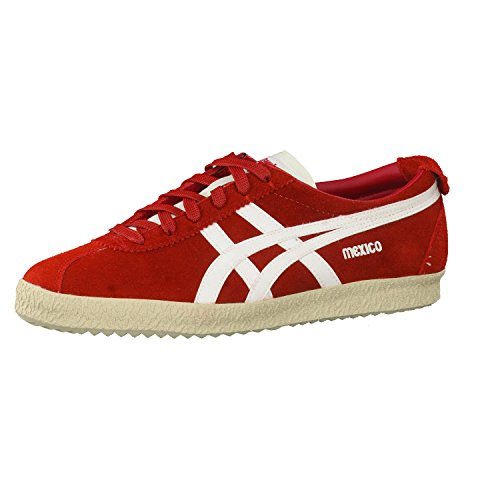 Adulto Onitsuka Messico Delegazione slight del Red Tiger Zapatillas Unisex White qttrYp