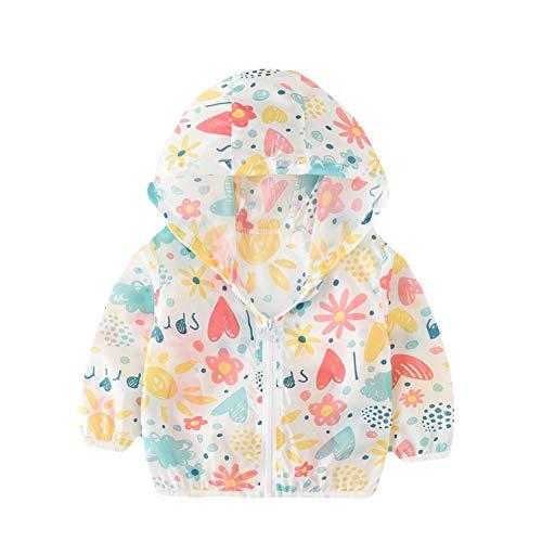 - JooNeng Baby Toddler Summer Sun UV Protection Hoodies Jacket Coat,Kids Girls Boys Cartoon Ultrathin Outwear,Flower